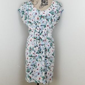 Anthropologie Odille Junebug Shift V-neck Dress XS